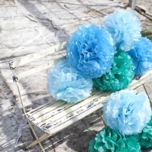 engel-pomoms-set-di-3-verde-blu-azzurro-45-50cm
